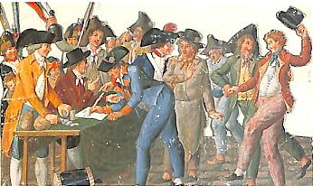 革命下のフランス