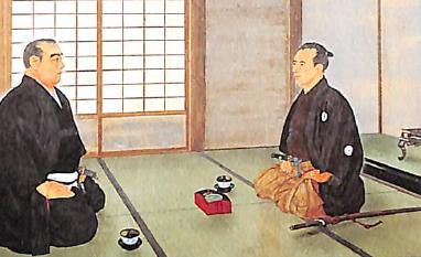 江戸城開城談判の図