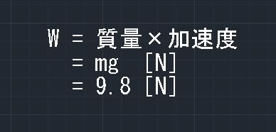 質量×加速度