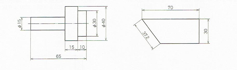 寸法数値の記入例(JIS Z 8317-1 2008)