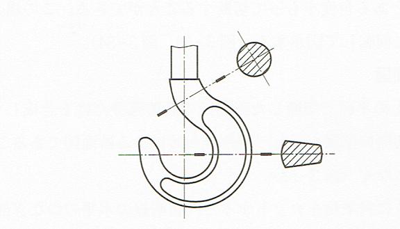 回転図示断面図2(JIS B 0001 2010)
