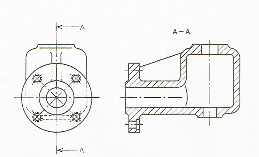 ピッチ円における穴の投影(JIS Z 8316 1999)