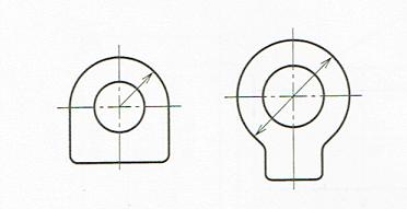 半径および直径の記入例(JIS B 0001 2010)