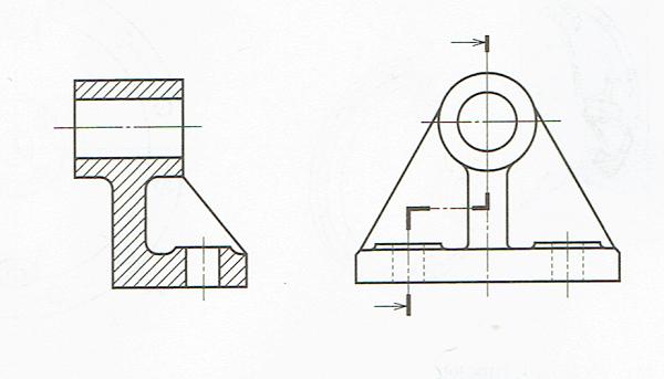 組み合わせによる断面図(JIS B 0012 010)