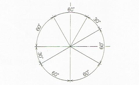 角度寸法(JIS Z 8317-1 2008)