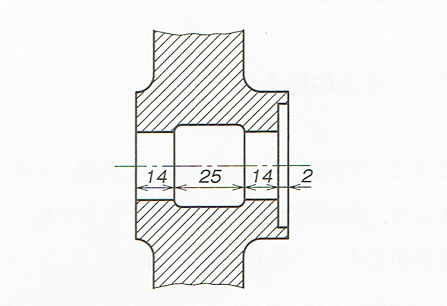 寸法補助線を用いない寸法記入例(JIS B 0001 2010)