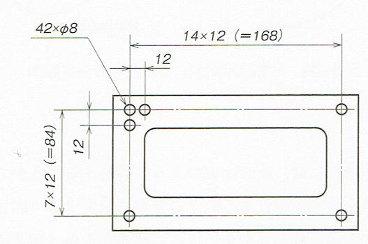 要所図示による繰返し図形の省略(JIS Z 8316 1999)