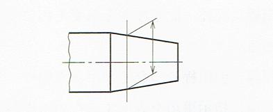 寸法補助線を斜めに引き出す例(JIS B 0001 2010)