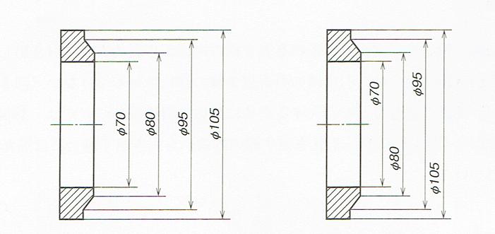 直径の寸法が多い場合(JIS B 0001 2010)