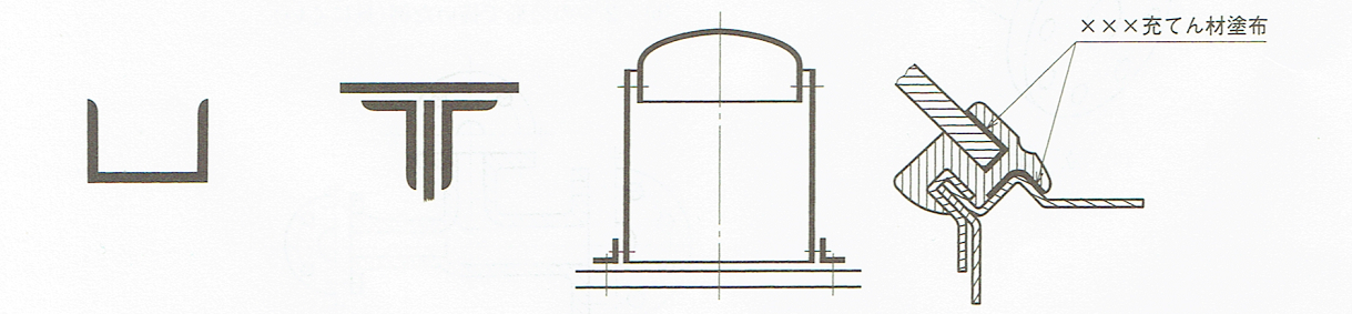 薄肉部分の断面図JIS B 0001 2010