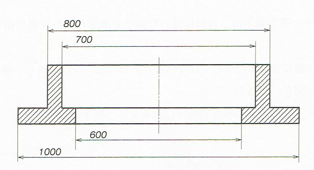寸法線が長い場合(JIS B 0001 2010)