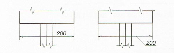 寸法数値の記入例(JIS B 0001 2010)