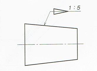 テーパの表し方(JIS B 0001:2010)