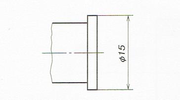 主投影図のみで表した円筒形体の直径の記入例(JIS B 0001 2010)