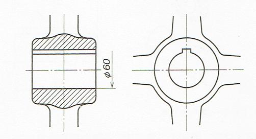 内径に凹または凸がある場合の例(JIS B 0001 2010)