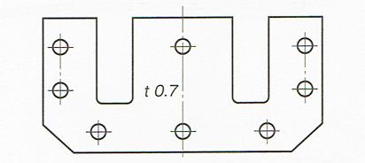 板の厚さの記入法(JISB00012010)
