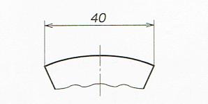 弦の寸法記入法(JIS B 0001 2010)