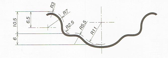 薄肉部の表し方(JIS B 0001 2010)