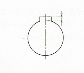 穴のキー講で特に必要な場合の表し方(JIS B 0001 2010)