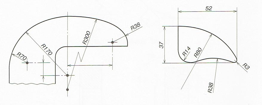 座標寸法の記入例(JISB00012010)