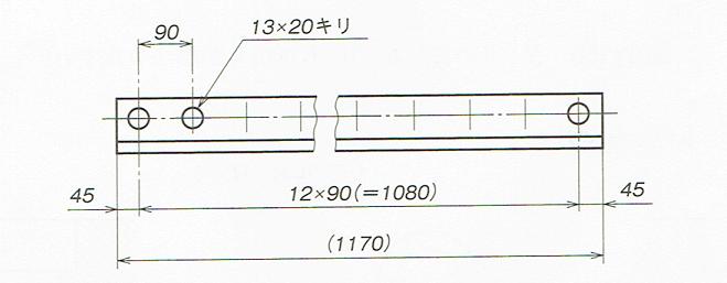 同一寸法の穴の記入例(JIS B 0001 2010)