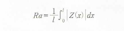 算術平均粗さ(Ra)