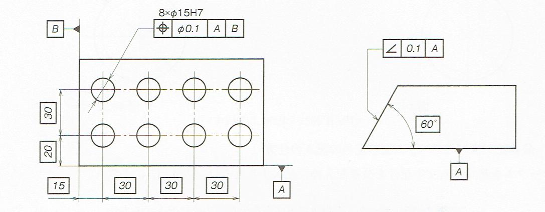 理論的に正確な寸法の図示方法(JIS B 0021 1998)