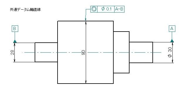 共通データム軸直線