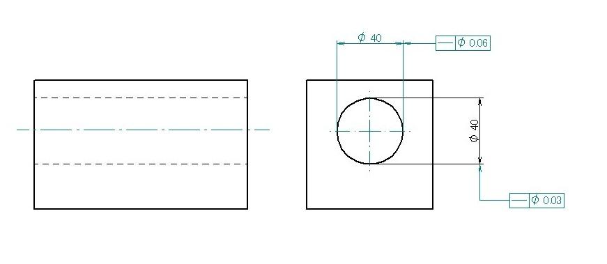 穴の軸線の真直度
