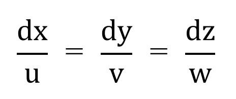 流線の方程式